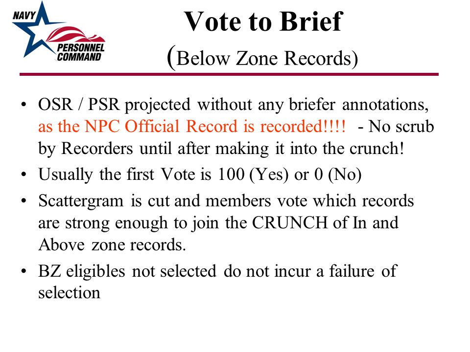 Vote to Brief (Below Zone Records)