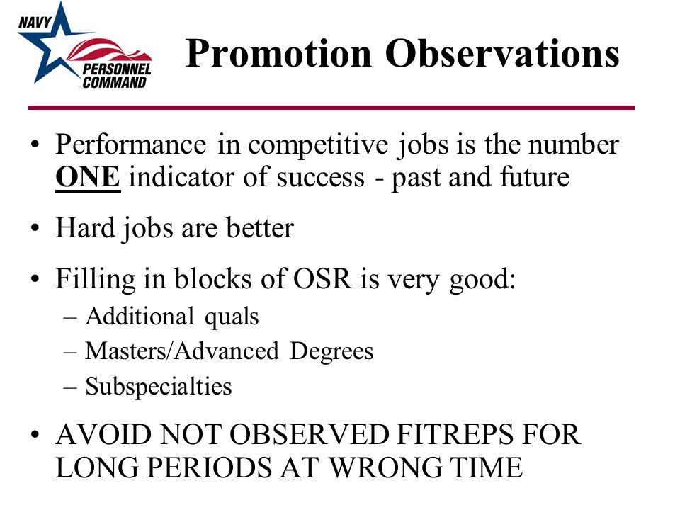 Promotion Observations