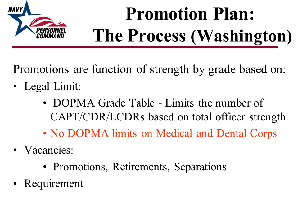 Promotion Plan: The Process (Washington)