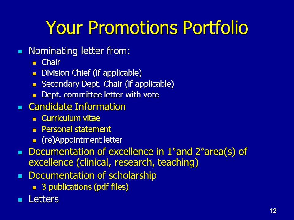 Your Promotions Portfolio