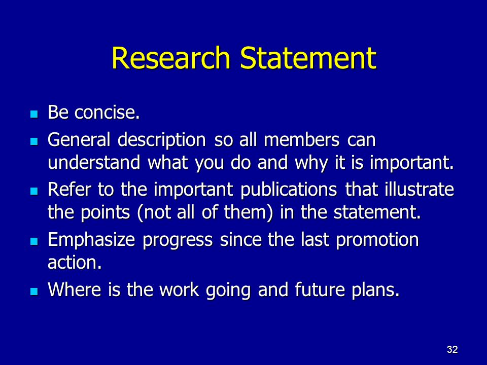 Research Statement Be concise.