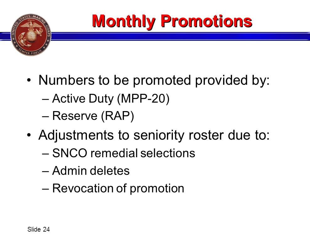 Monthly Promotions Numbers to be promoted provided by: