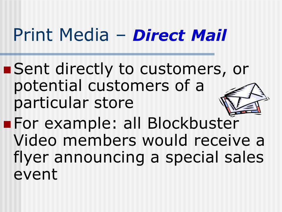 Print Media – Direct Mail