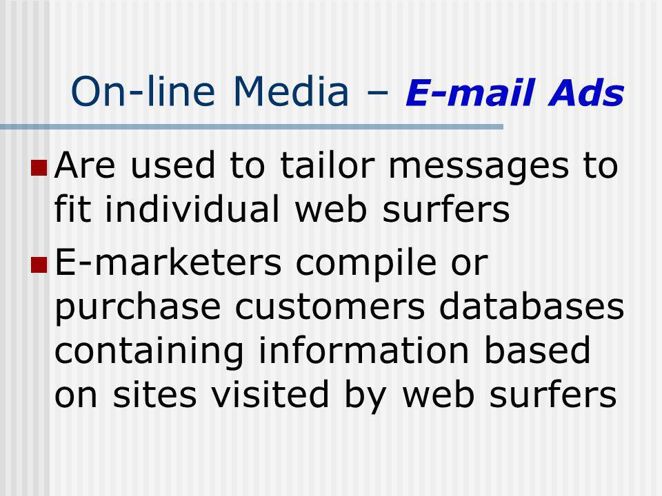 On-line Media – E-mail Ads