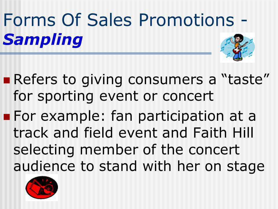 Forms Of Sales Promotions - Sampling
