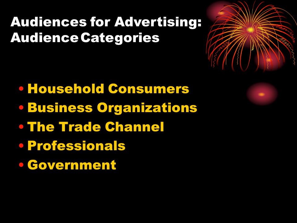 Audiences for Advertising: