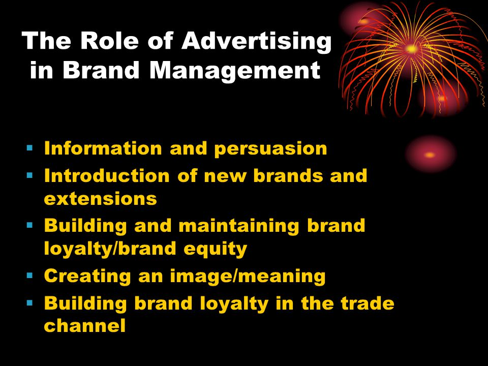 The Role of Advertising in Brand Management