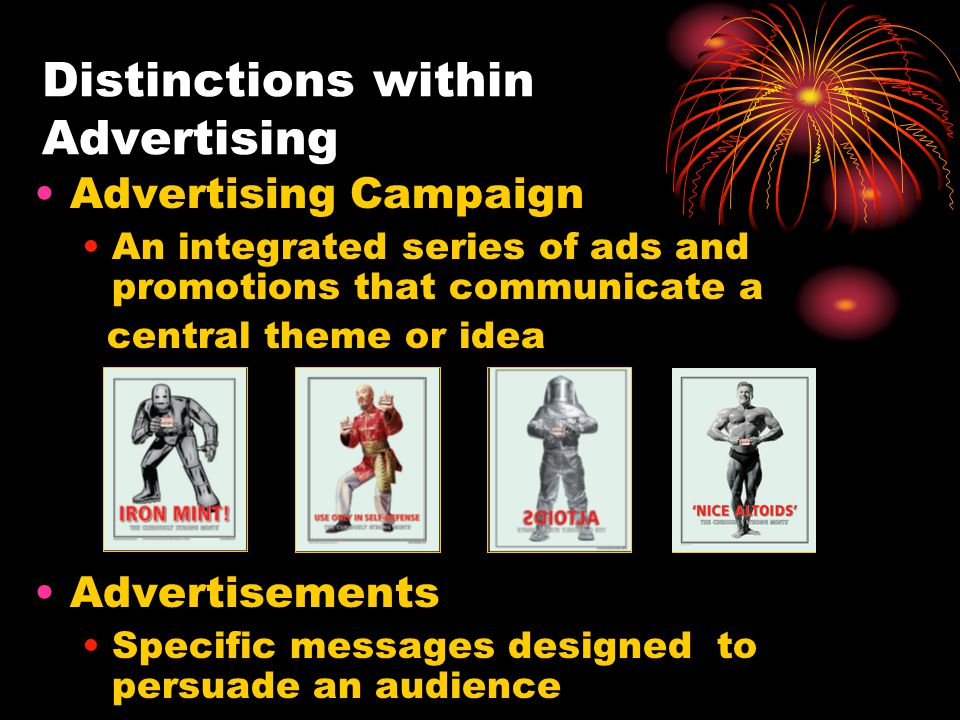 Distinctions within Advertising