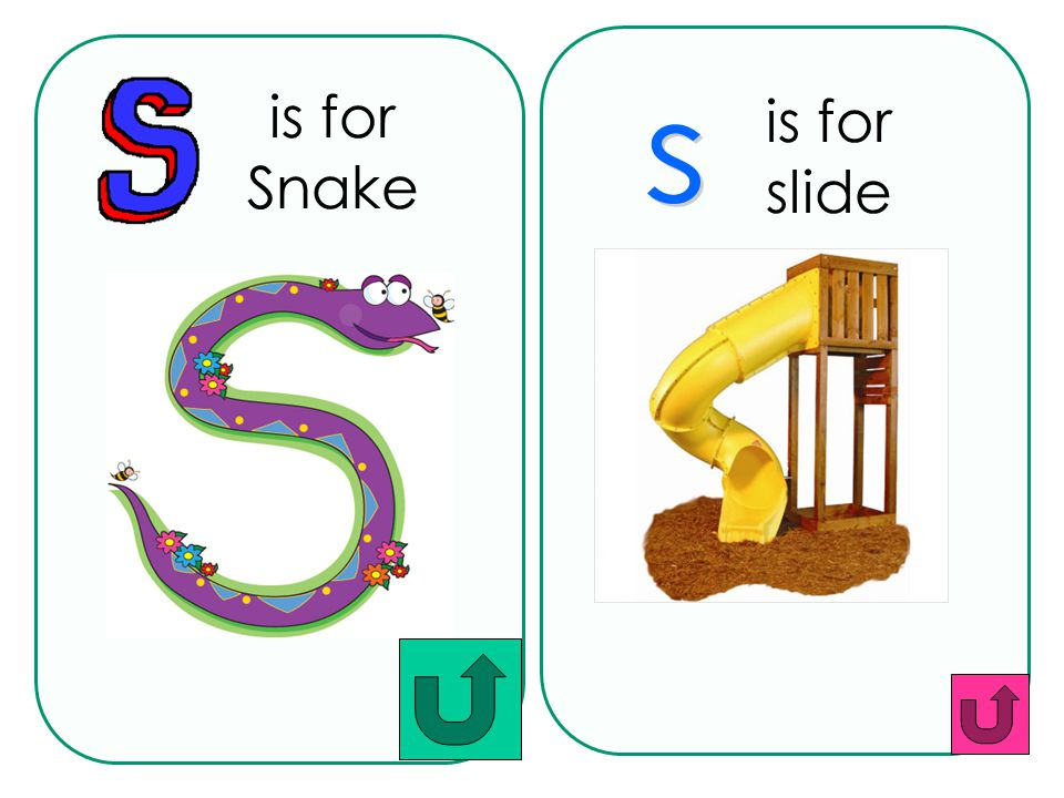 is for Snake is for slide s