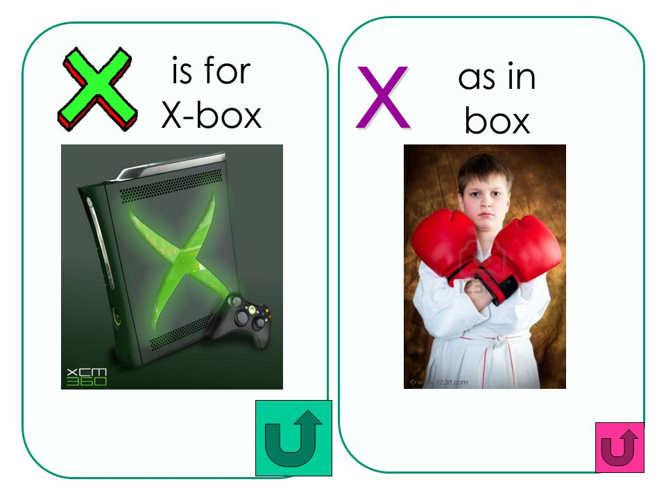 as in box is for X-box x