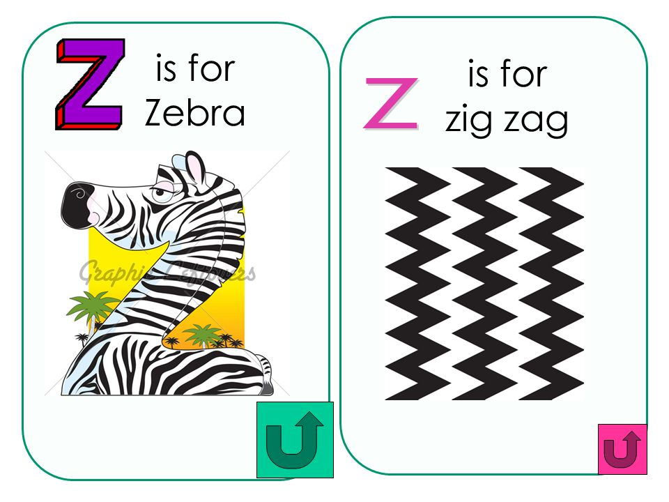 is for Zebra is for zig zag z