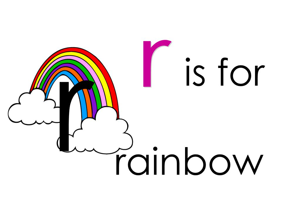r is for r rainbow