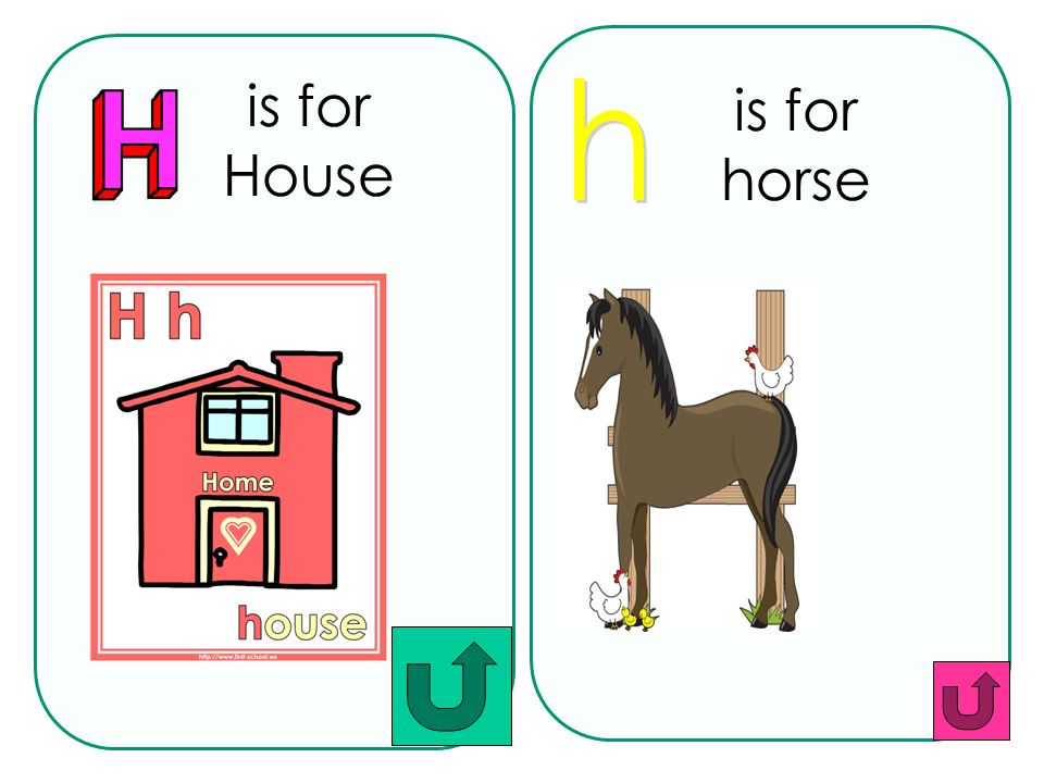 is for horse is for House h