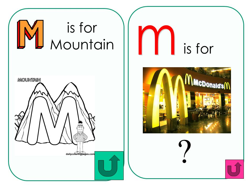 is for Mountain m is for