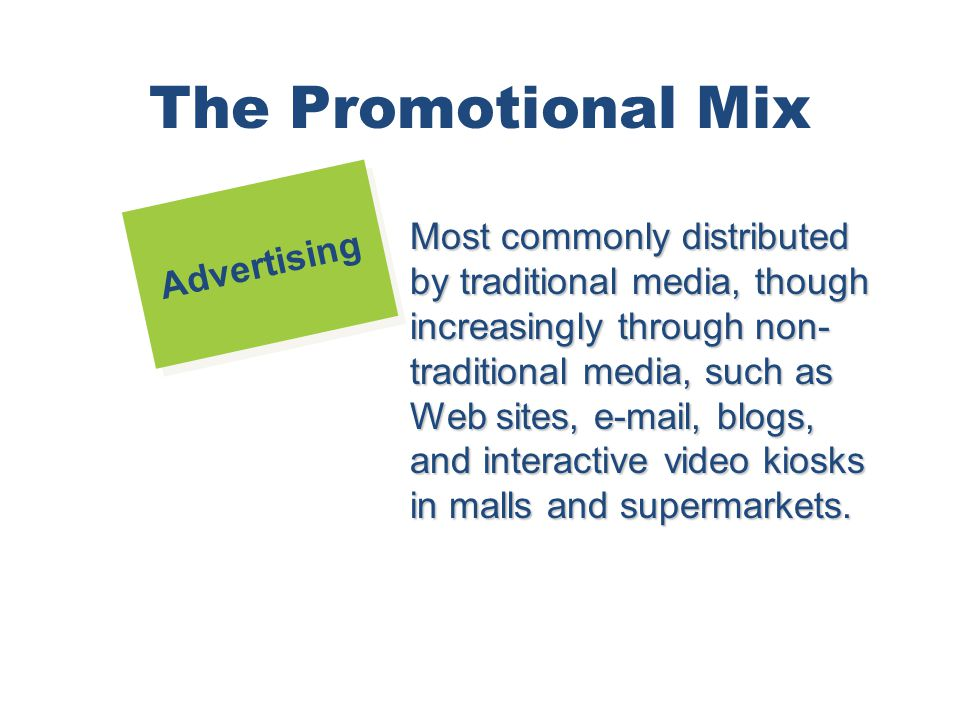 The Promotional Mix Advertising