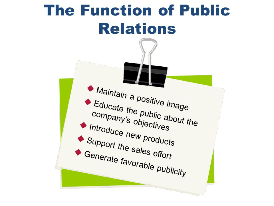 The Function of Public Relations