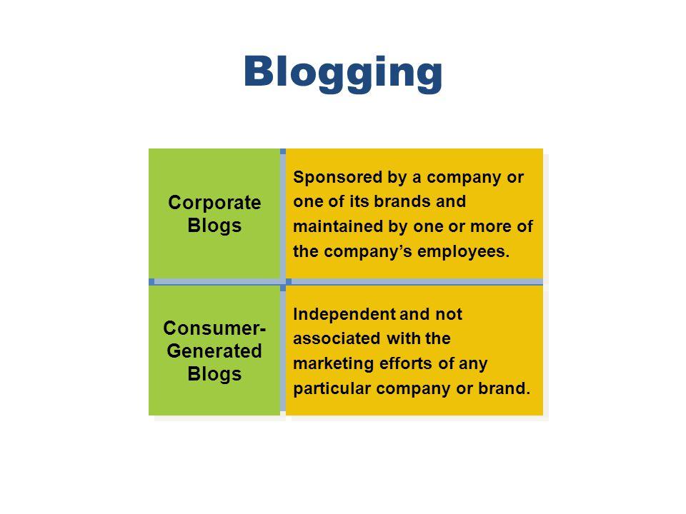 Consumer-Generated Blogs