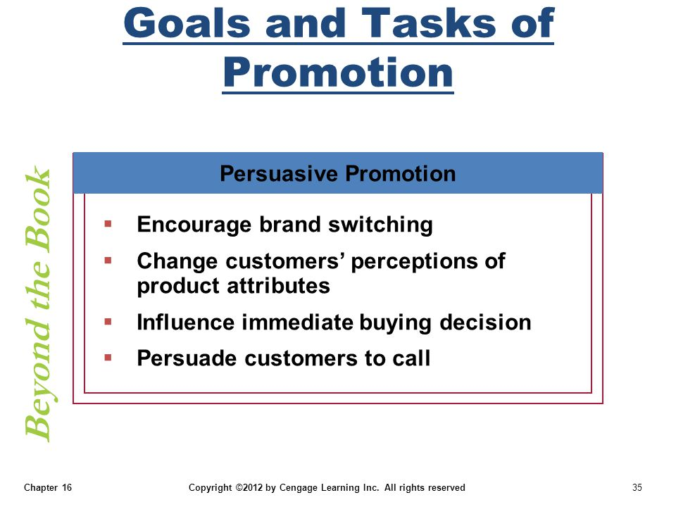 Goals and Tasks of Promotion
