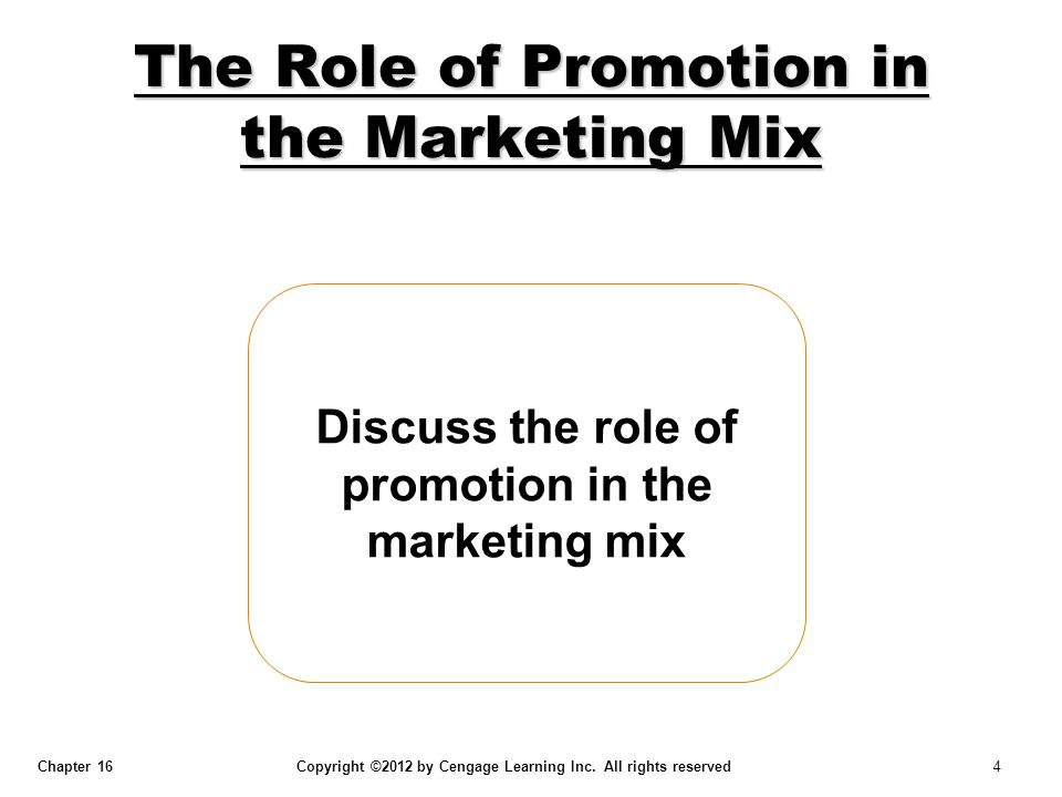 The Role of Promotion in the Marketing Mix