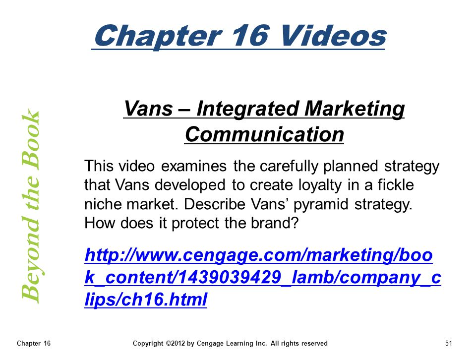 Vans – Integrated Marketing Communication