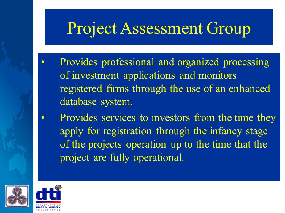 Project Assessment Group