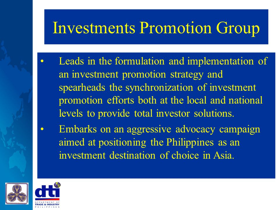 Investments Promotion Group