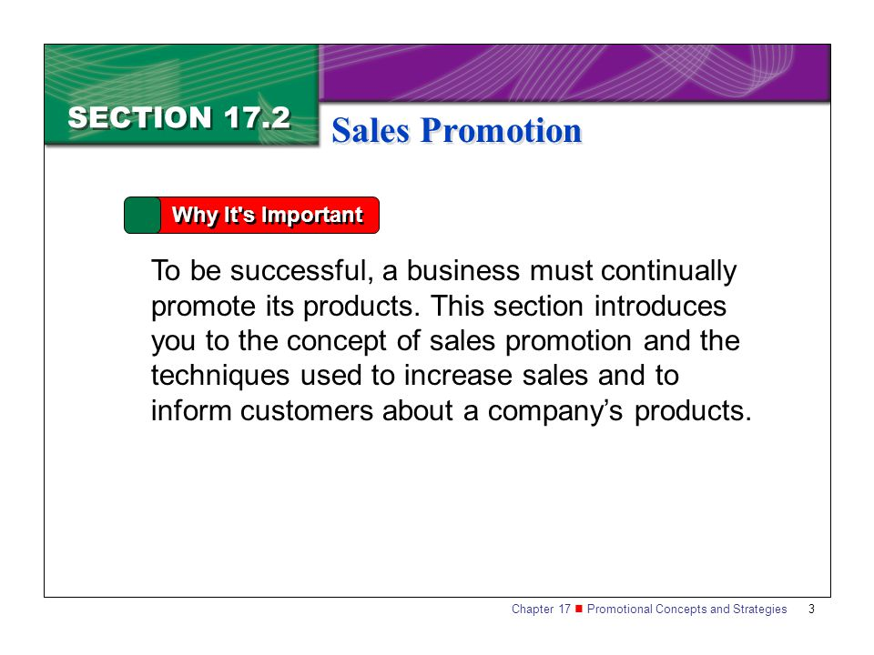 Sales Promotion SECTION 17.2