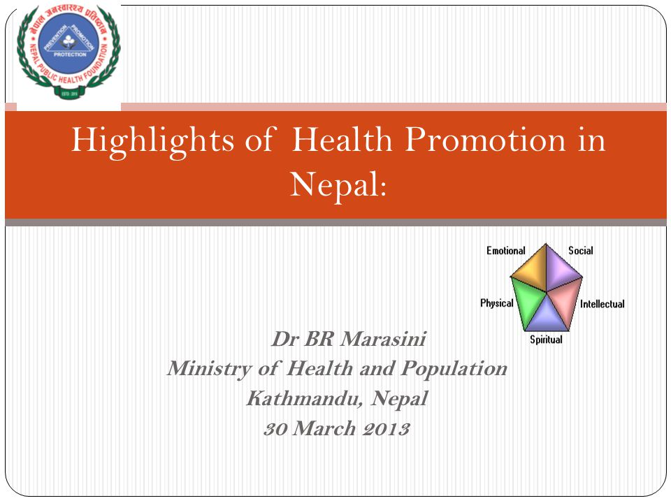Highlights of Health Promotion in Nepal: