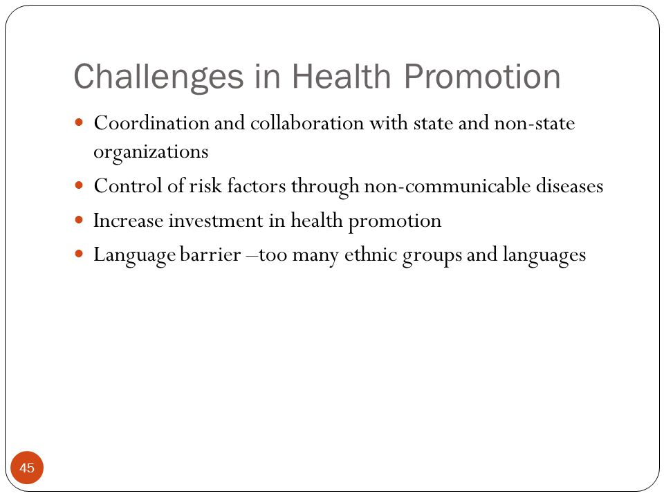 Challenges in Health Promotion