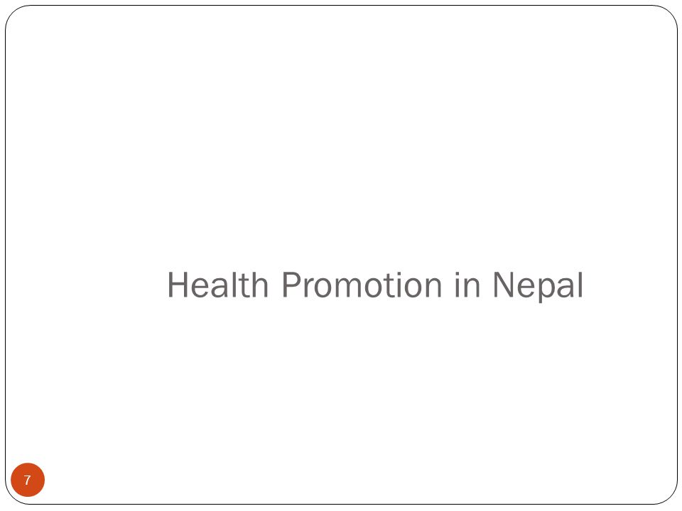 Health Promotion in Nepal