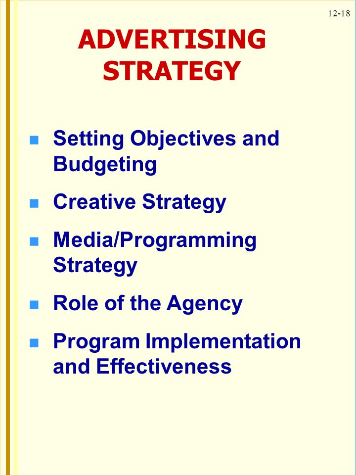 ADVERTISING STRATEGY Setting Objectives and Budgeting