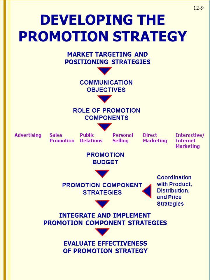 DEVELOPING THE PROMOTION STRATEGY