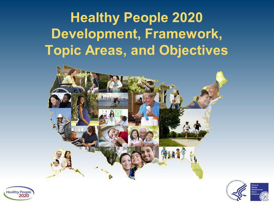 Healthy People 2020 Development, Framework, Topic Areas, and Objectives