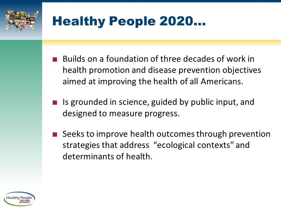 Healthy People 2020…