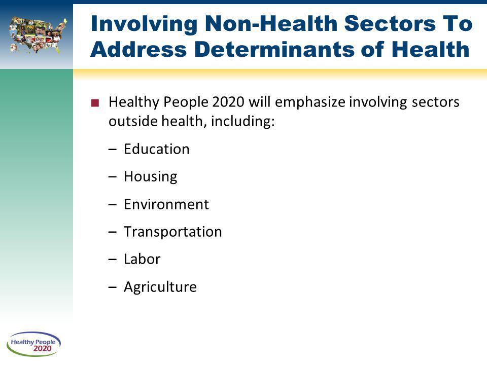 Involving Non-Health Sectors To Address Determinants of Health