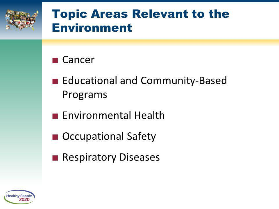 Topic Areas Relevant to the Environment