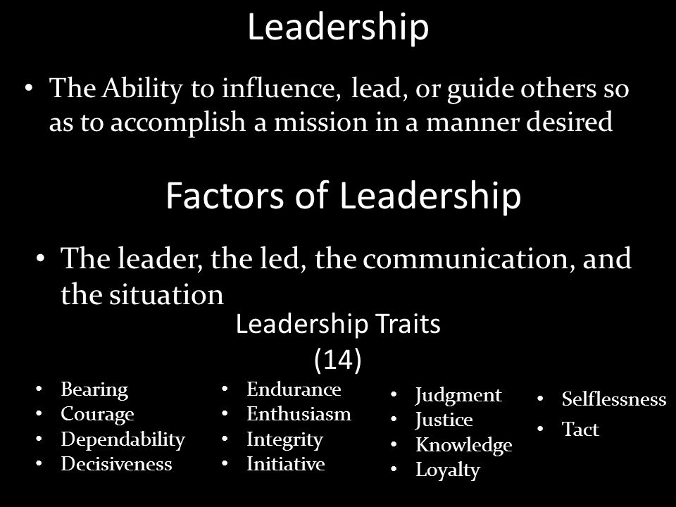 Leadership Factors of Leadership