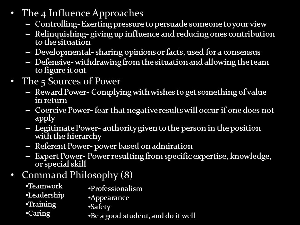 The 4 Influence Approaches