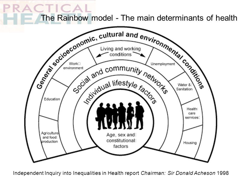 The Rainbow model - The main determinants of health