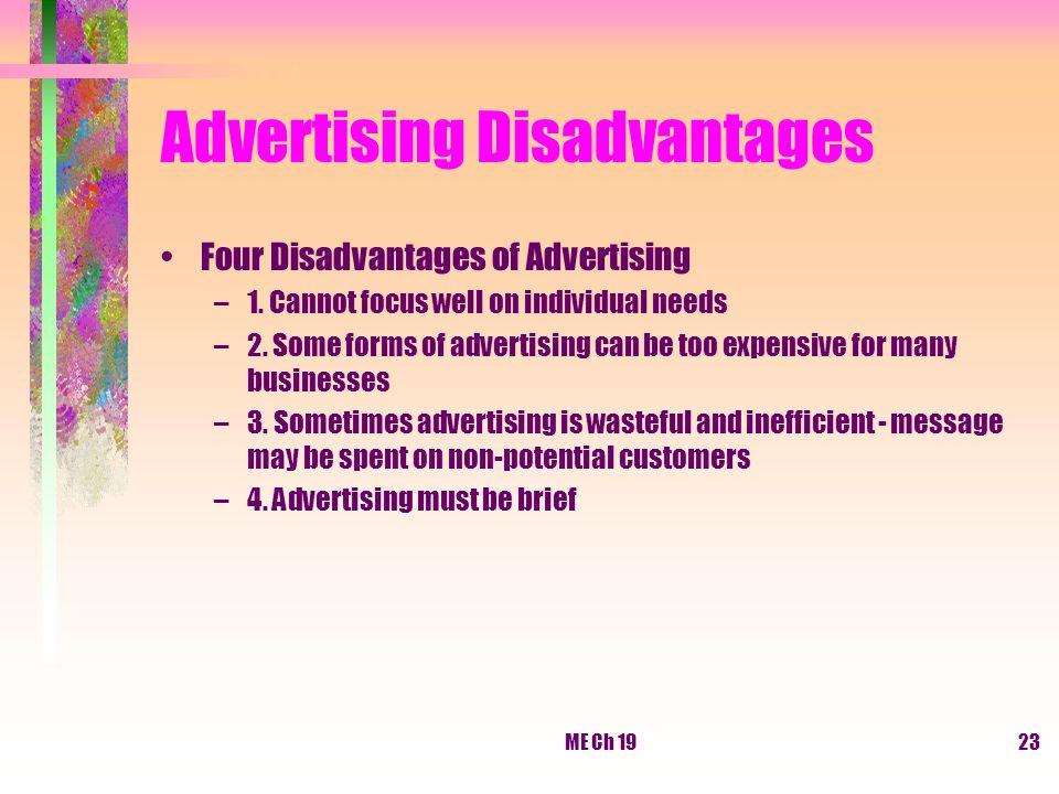 Advertising Disadvantages