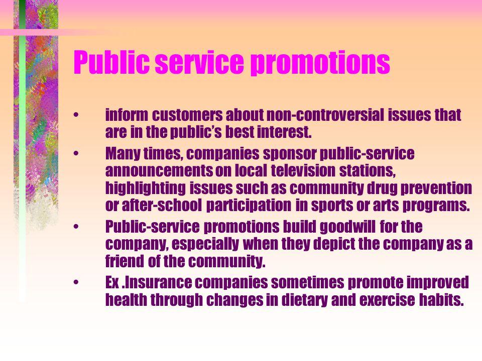 Public service promotions