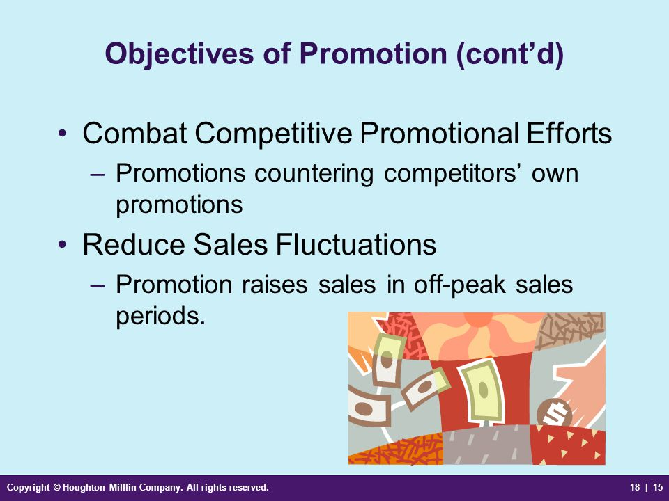 Objectives of Promotion (cont'd)
