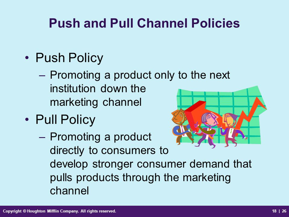 Push and Pull Channel Policies