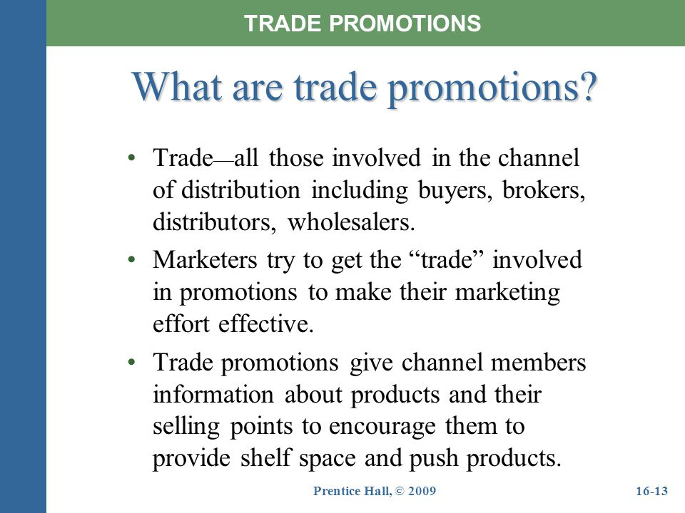 What are trade promotions