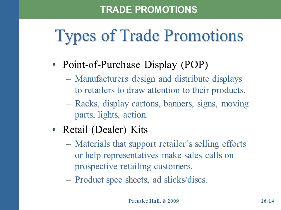 Types of Trade Promotions