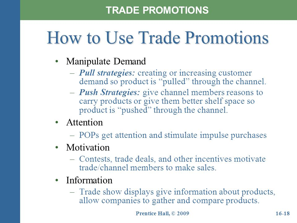 How to Use Trade Promotions