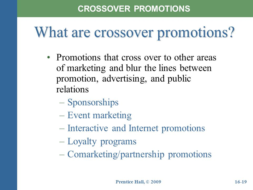 What are crossover promotions