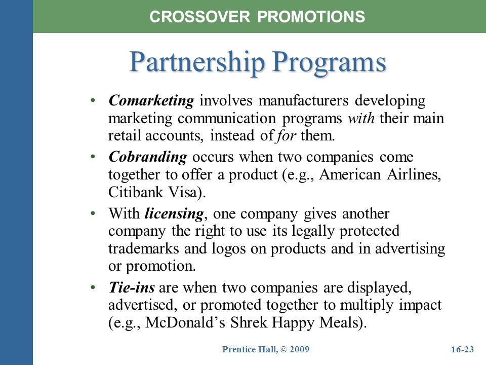 Partnership Programs CROSSOVER PROMOTIONS