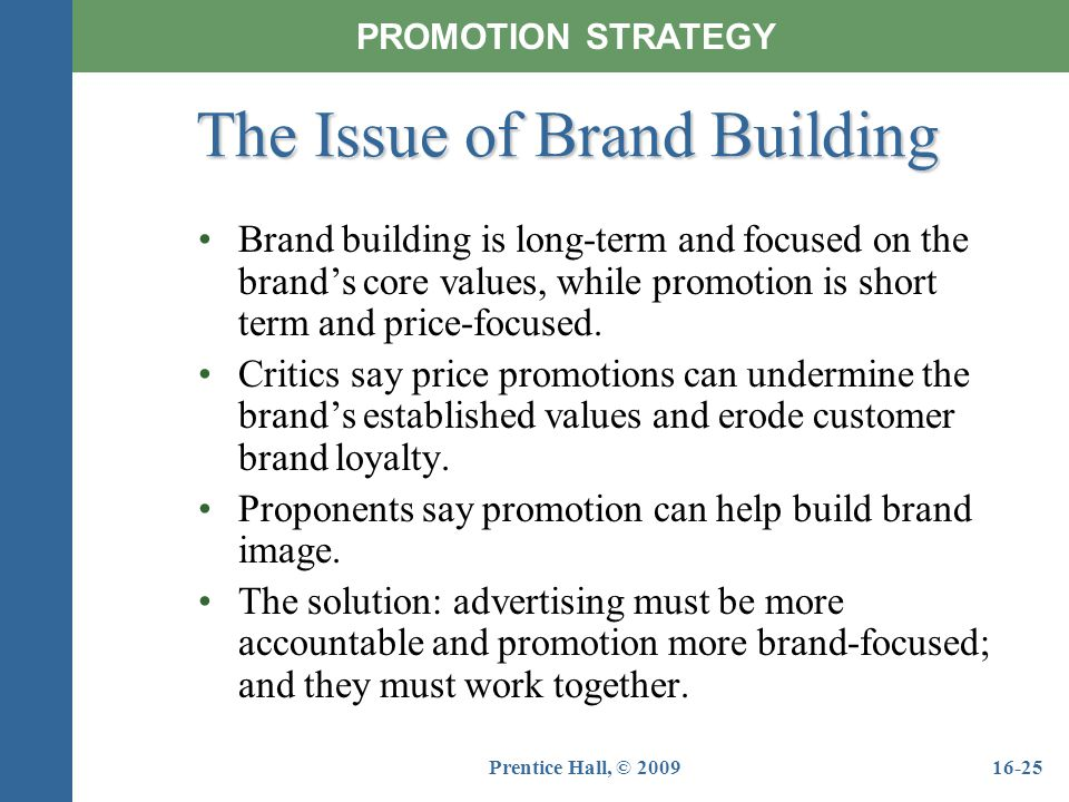 The Issue of Brand Building