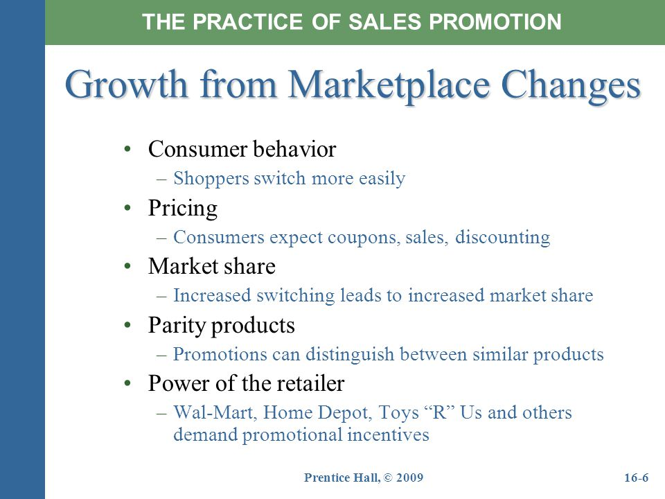 Growth from Marketplace Changes